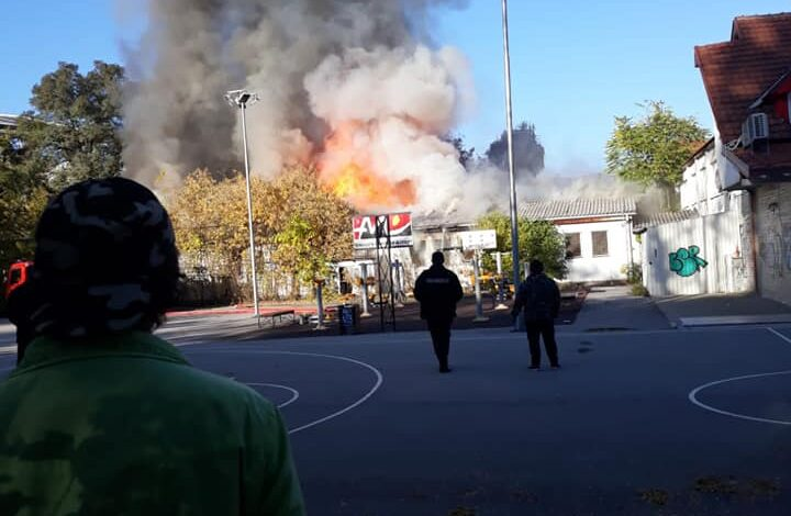 Детали за пожарот во парк: Горат бараки на Прекршочниот суд