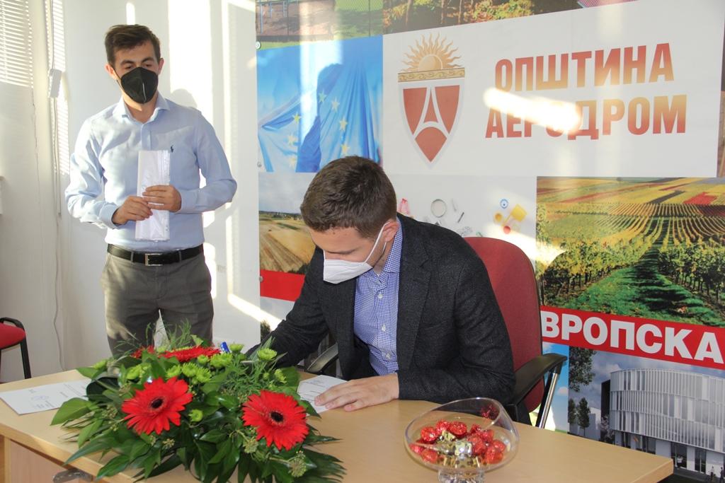 Тимчо Муцунски и новите советниците во Аеродром ги добија уверенијата за своите мандати